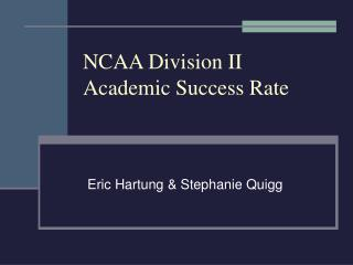 NCAA Division II Academic Success Rate