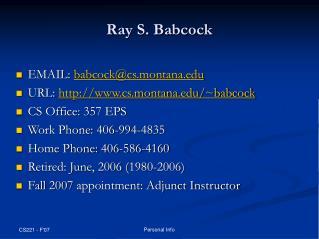 Ray S. Babcock