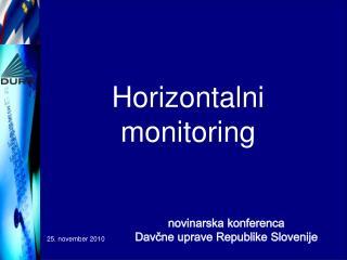 Horizontalni  monitoring