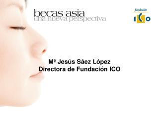 M� Jes�s S�ez L�pez Directora de Fundaci�n ICO