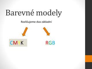Barevné modely
