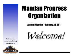 Mandan Progress Organization Annual Meeting - January 24, 2011