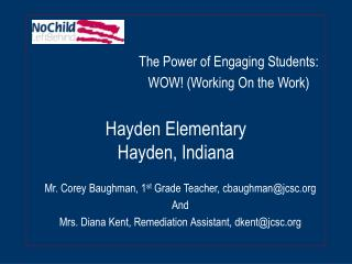 Hayden Elementary Hayden, Indiana