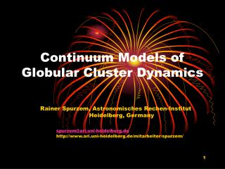 Continuum Models of Globular Cluster Dynamics