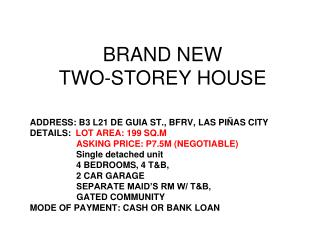 BRAND NEW TWO-STOREY HOUSE