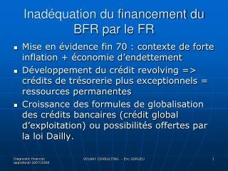Inadéquation du financement du BFR par le FR