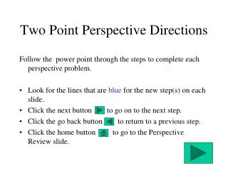 Two Point Perspective Directions