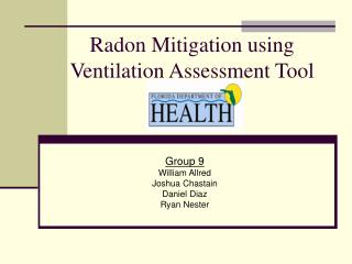 Radon Mitigation using Ventilation Assessment Tool