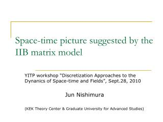 Space-time picture suggested by the IIB matrix model