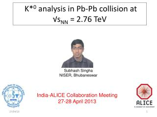 K* 0  analysis in Pb-Pb collision at √s NN  = 2.76 TeV