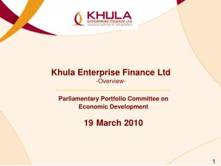 Khula Enterprise Finance Ltd -Overview-