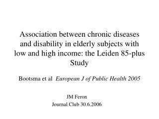 JM Feron Journal Club 30.6.2006
