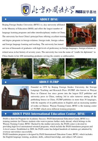 Beijing Foreign Studies University (BFSU) is  a  key university affiliated