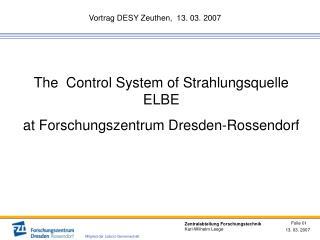 Vortrag DESY Zeuthen,  13. 03. 2007