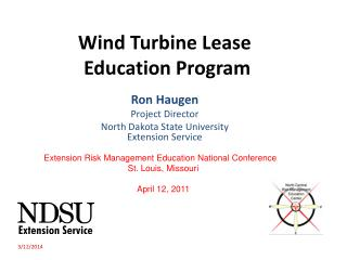 Wind Turbine Lease  Education Program