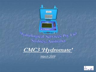 Hydrological Services Pty Ltd Sydney, Australia