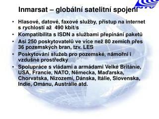 Inmarsat  – globální satelitní spojení
