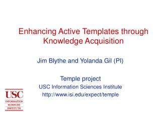 Enhancing Active Templates through Knowledge Acquisition
