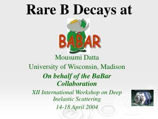 Rare B Decays at