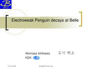 Electroweak Penguin decays at Belle