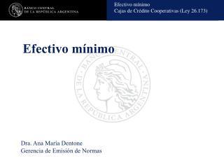 Efectivo mínimo