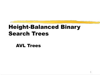 Height-Balanced Binary Search Trees
