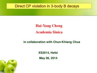Direct CP violation in 3-body B decays