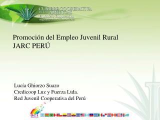 Promoción del Empleo Juvenil Rural JARC PERÚ