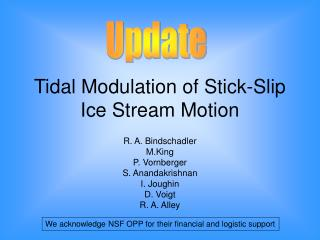 Tidal Modulation of Stick-Slip Ice Stream Motion