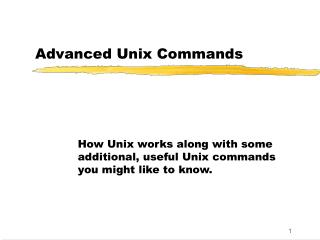 Advanced Unix Commands