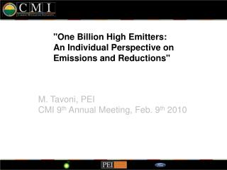 """One Billion High Emitters: An Individual Perspective on Emissions and Reductions"""