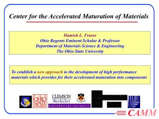 Hamish L. Fraser Ohio Regents Eminent Scholar & Professor