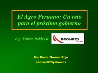 El Agro Peruano: Un reto para el próximo gobierno