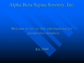 Alpha Beta Sigma Sorority, Inc.