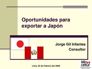 Oportunidades para  exportar a Jap�n