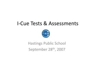I-Cue Tests  Assessments