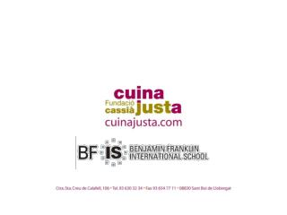 Subject: Presentation  BFIS & CUINA  JUSTA Date: 5  AUGUST 2011