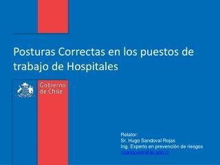 Posturas Correctas en los puestos de trabajo de Hospitales