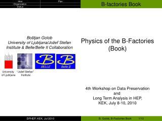 B-factories Book