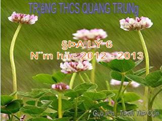 TR¦êNG THCS QUANG TRUNg