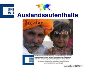 Auslandsaufenthalte - Förderungsmöglichkeiten -