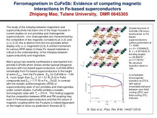 B. Qian  et al .,  Phys. Rev. B  85, 144427 (2012)