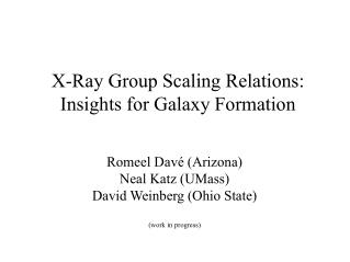 X-Ray Group Scaling Relations: Insights for Galaxy Formation