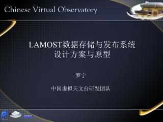 LAMOST 数据存储与发布系统 设计方案与原型