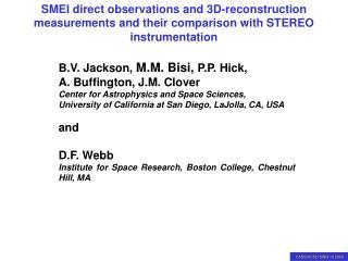 B.V. Jackson,  M.M. Bisi, P.P. Hick,            A. Buffington, J.M. Clover
