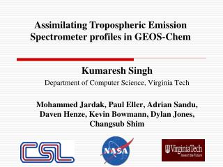 Kumaresh Singh Department of Computer Science, Virginia Tech