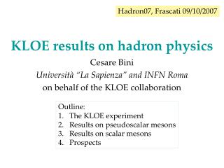 KLOE results on hadron physics