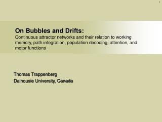 Thomas Trappenberg Dalhousie University, Canada