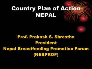 Country Plan of Action NEPAL