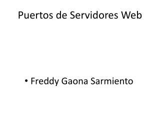 Puertos de Servidores Web